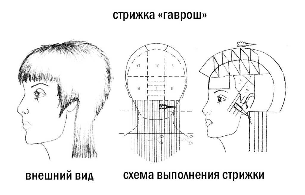 Стрижка гаврош на средние, короткие волосы для девушек и женщин 50 лет, фото