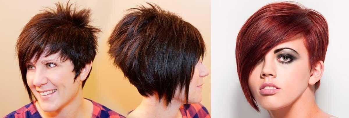 Стрижки асимметрия фото на средние волосы